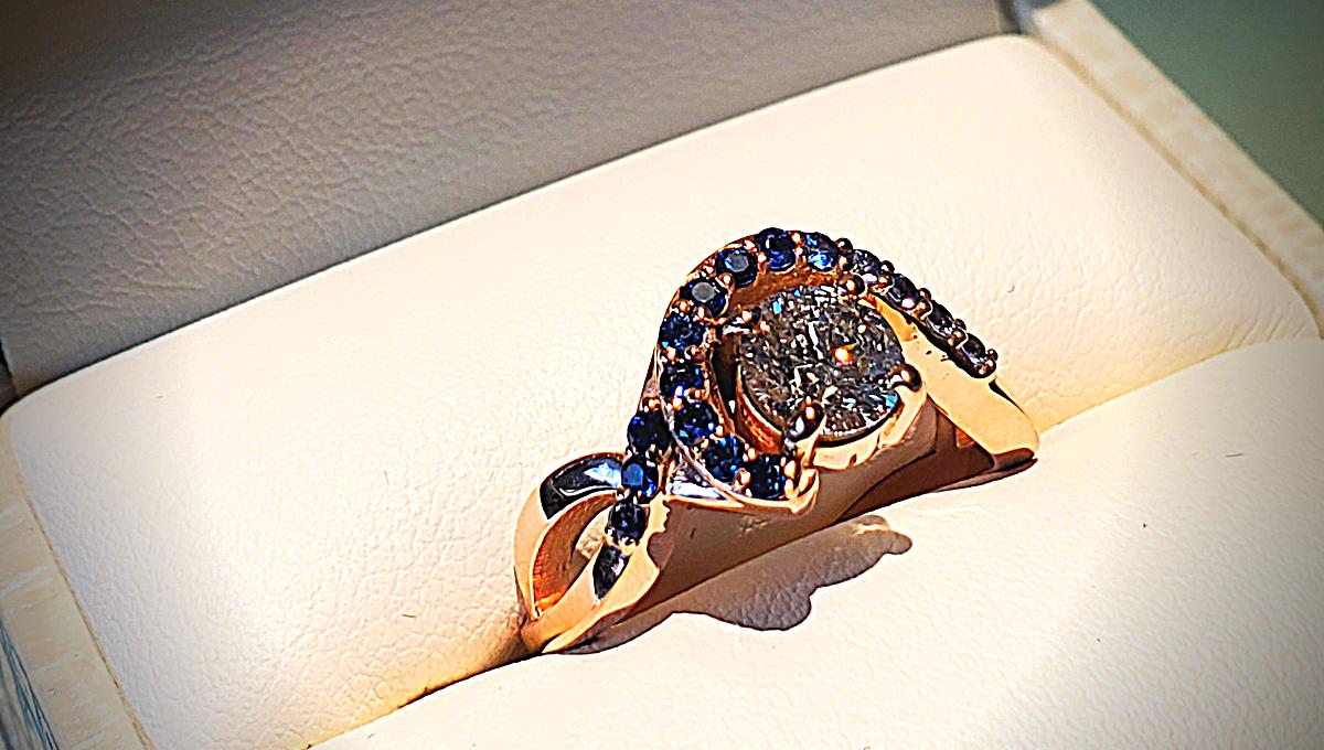 A Custom Engagement Ring Design for a Custom Love Story…