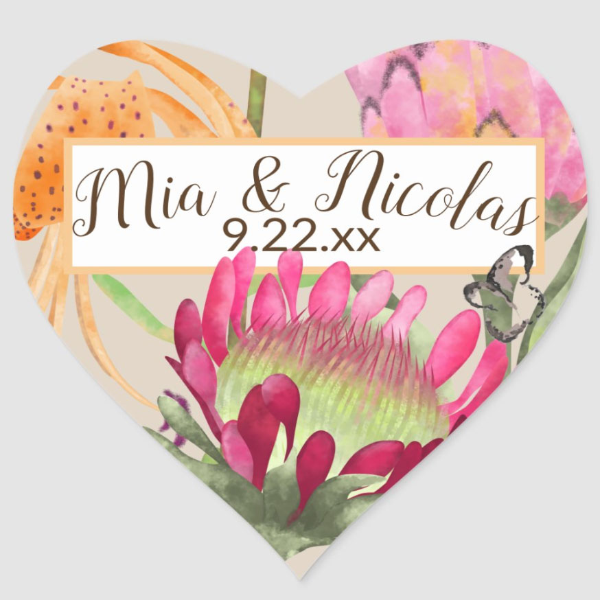custom wedding stickers cheap