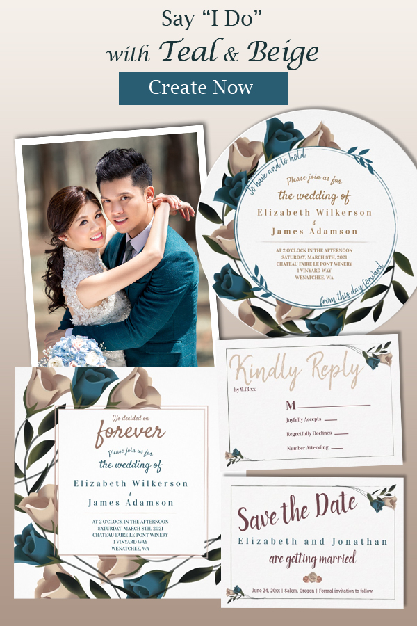 deep teal nougat theme colors fall wedding