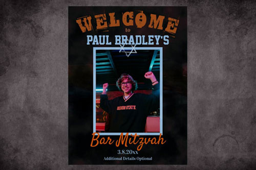 bar-mitzvah-welcome-sign-poster-blue-brown-modern-unique-star-of-david