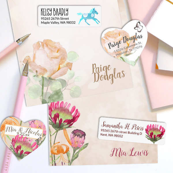 customizable letterhead personalized stationary stickers cute funny return address labels
