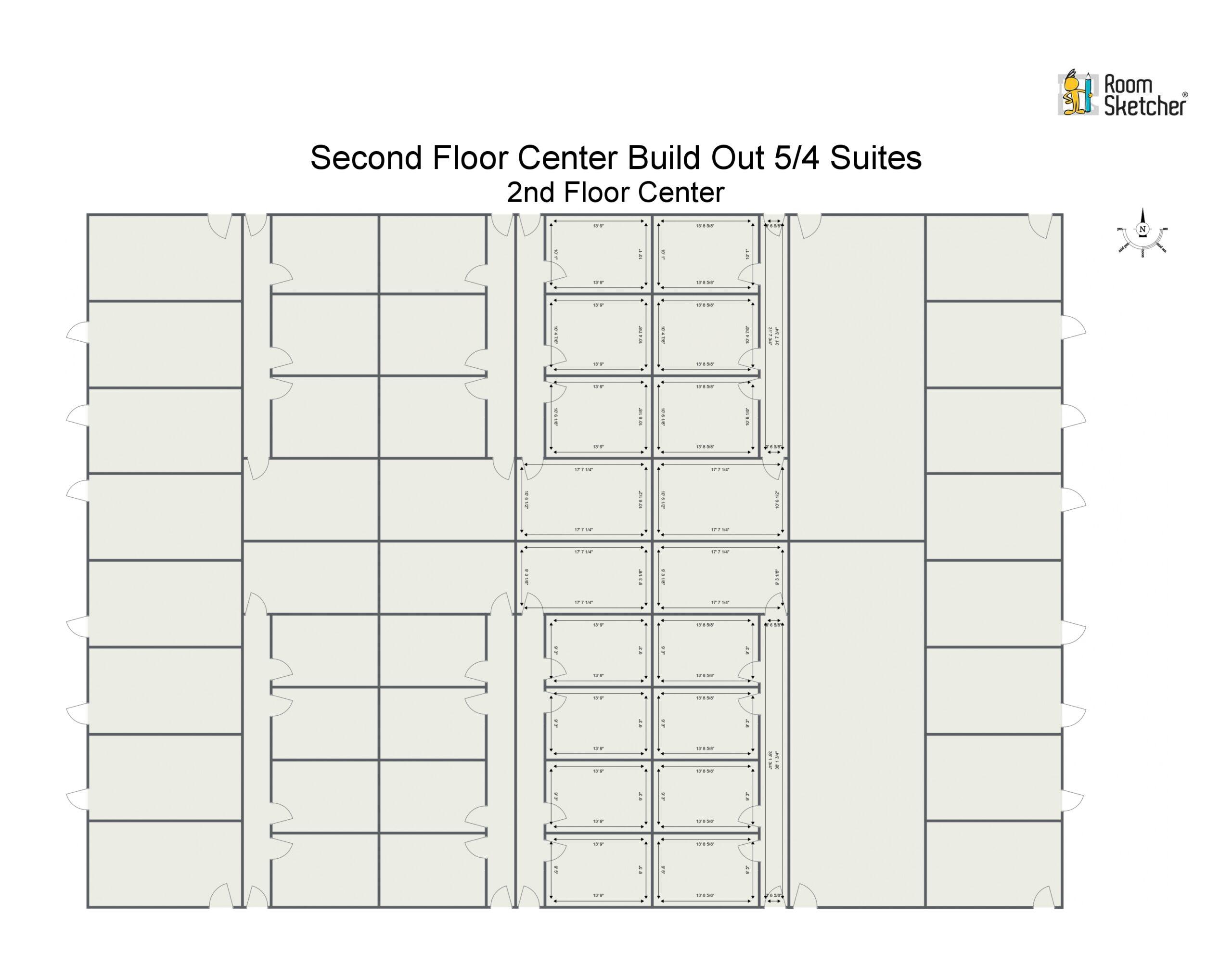 Second Floor 200-900 SF