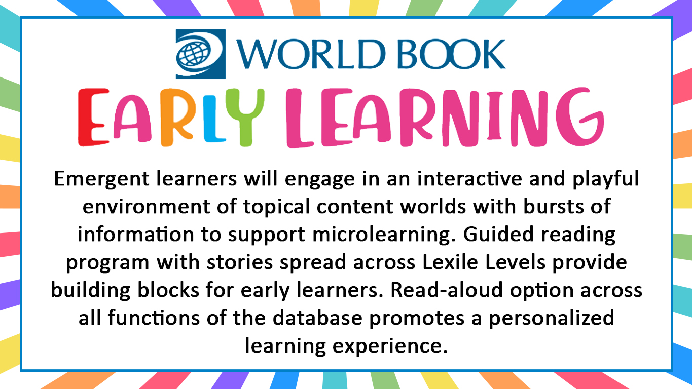 World Book Early Learning slide