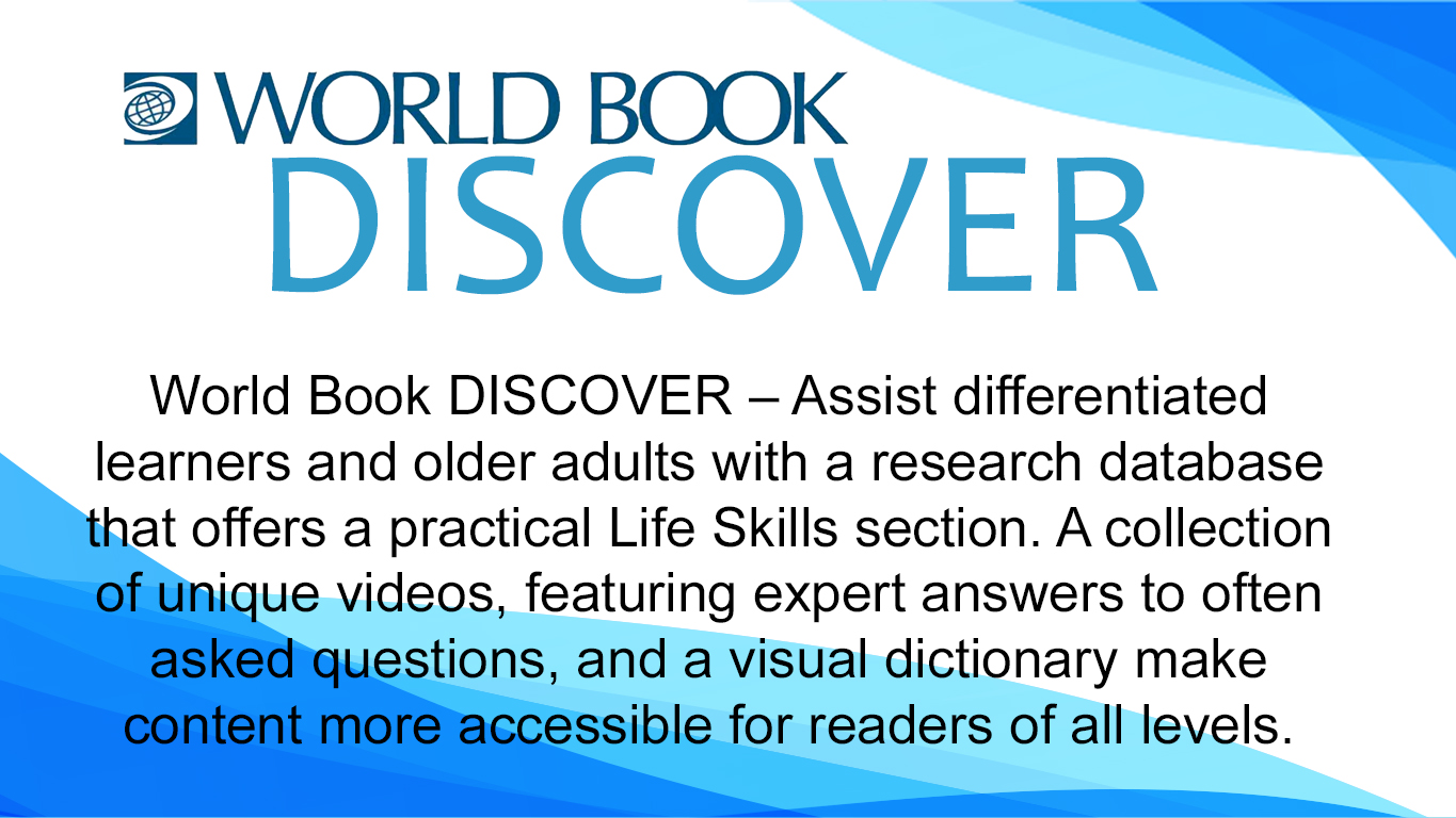 World book discovery slide