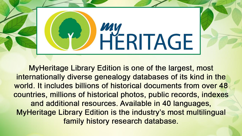 MyHeritage slide
