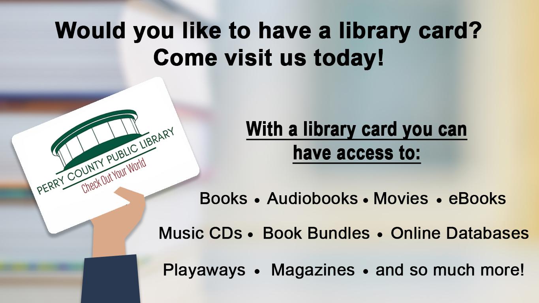 Library card slide April 2021