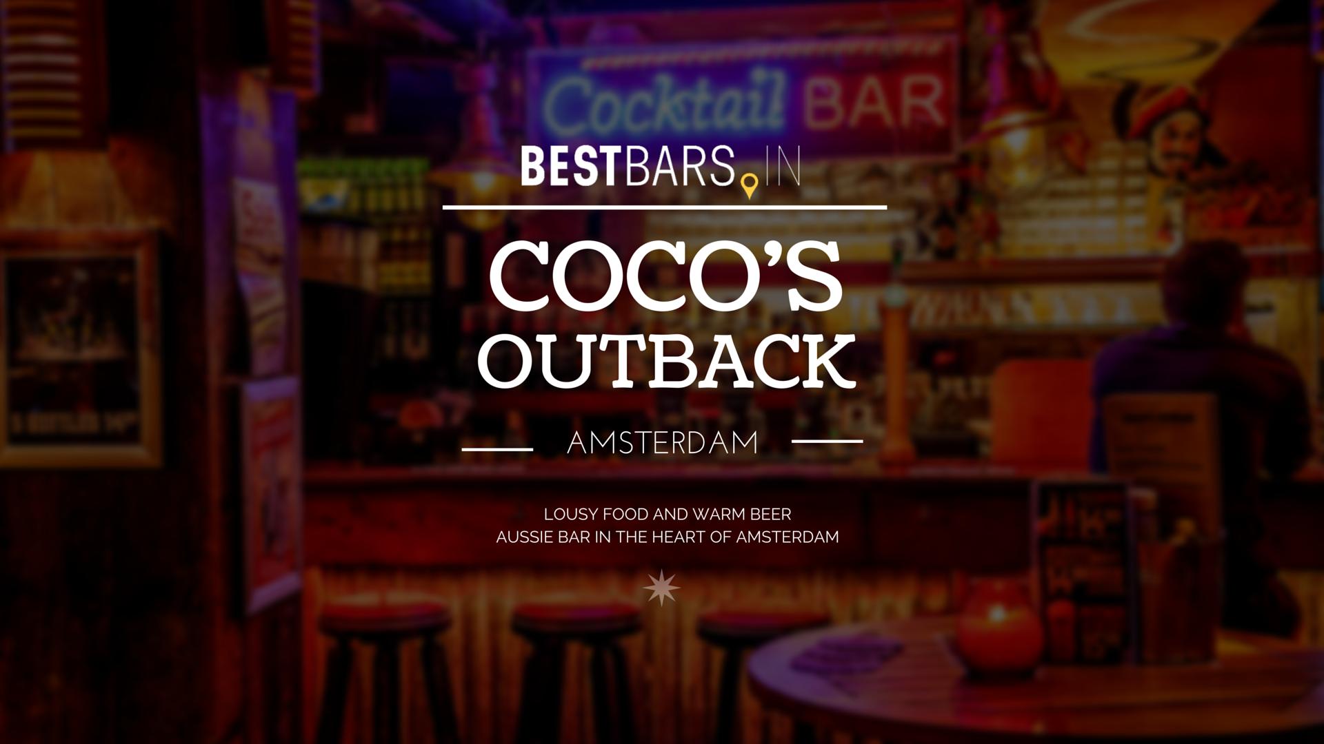 Coco's Outback - Australian bar in Amsterdam