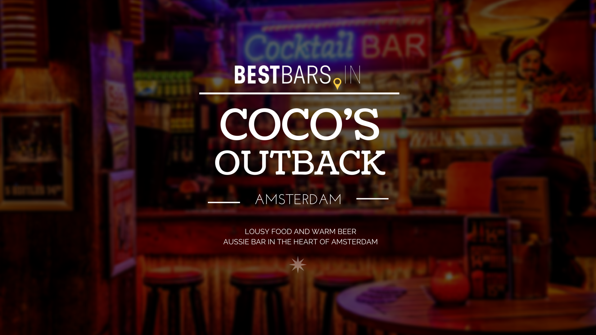 Coco's Outback - Australian bar in the heart of Amsterdam