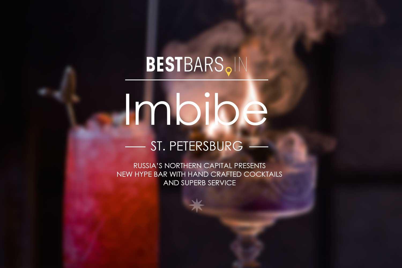 Imbibe - new trending cocktail bar in Saint Petersburg