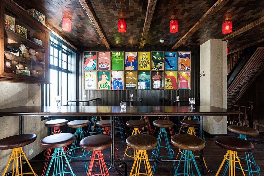 Mikkeller & Friends Bar, Reykjavik - designer wall