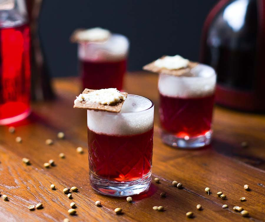 Borsch cocktail by Imbibe Cocktail Bar in Saint Petersburg