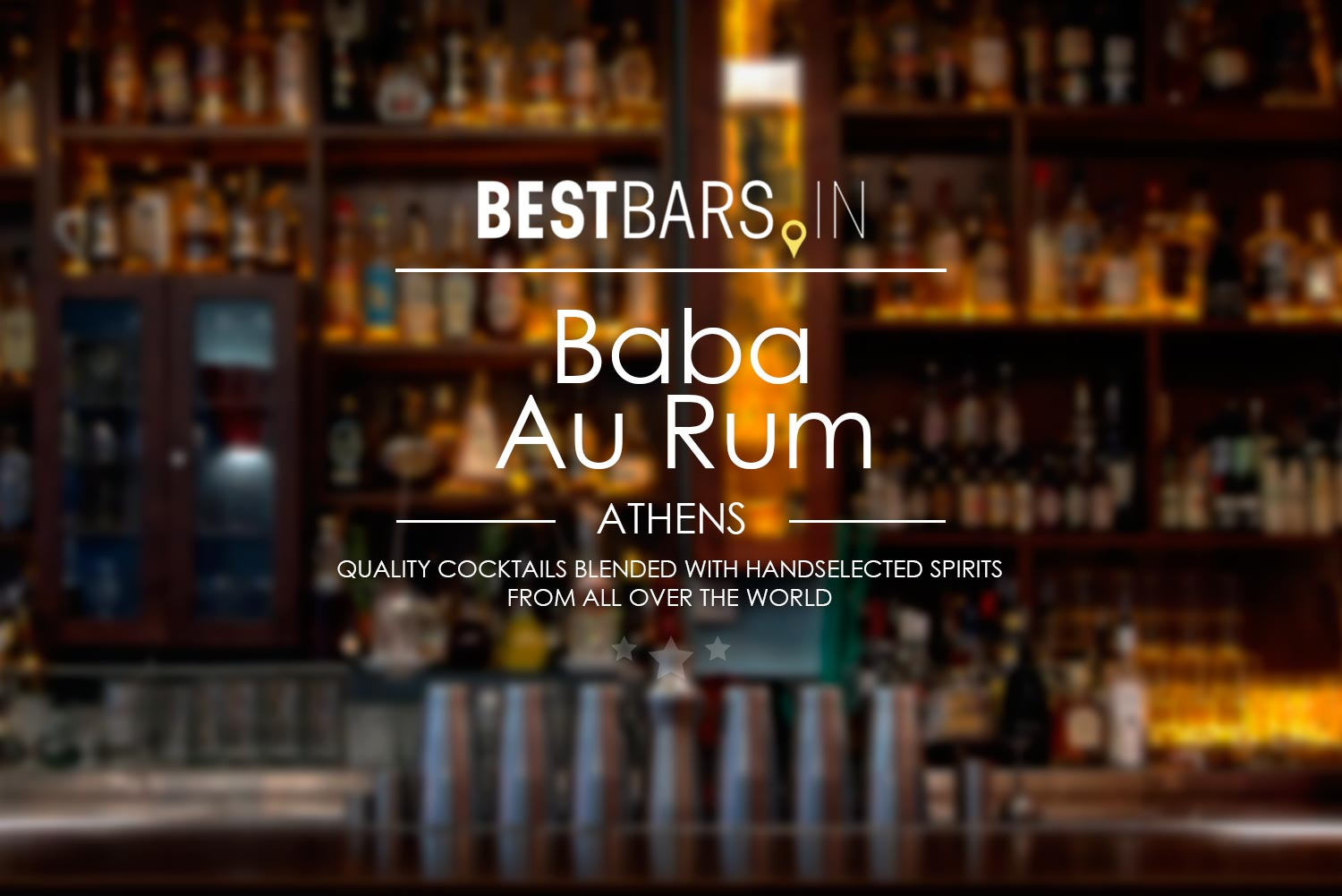 Baba Au Rum – best cocktail bar in Athens