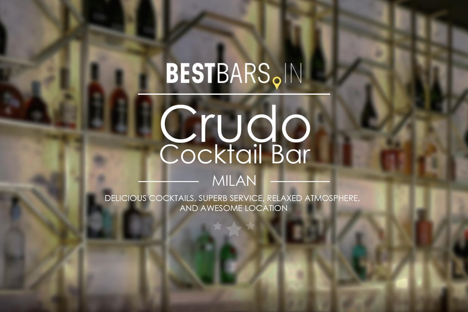 Crudo Cocktail Bar is a new trendy cocktail lounge in one of the coolest neighbourhoods of Milan