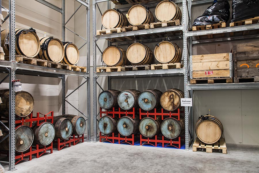 Ageing beer in barrels- Two Chefs Brewing