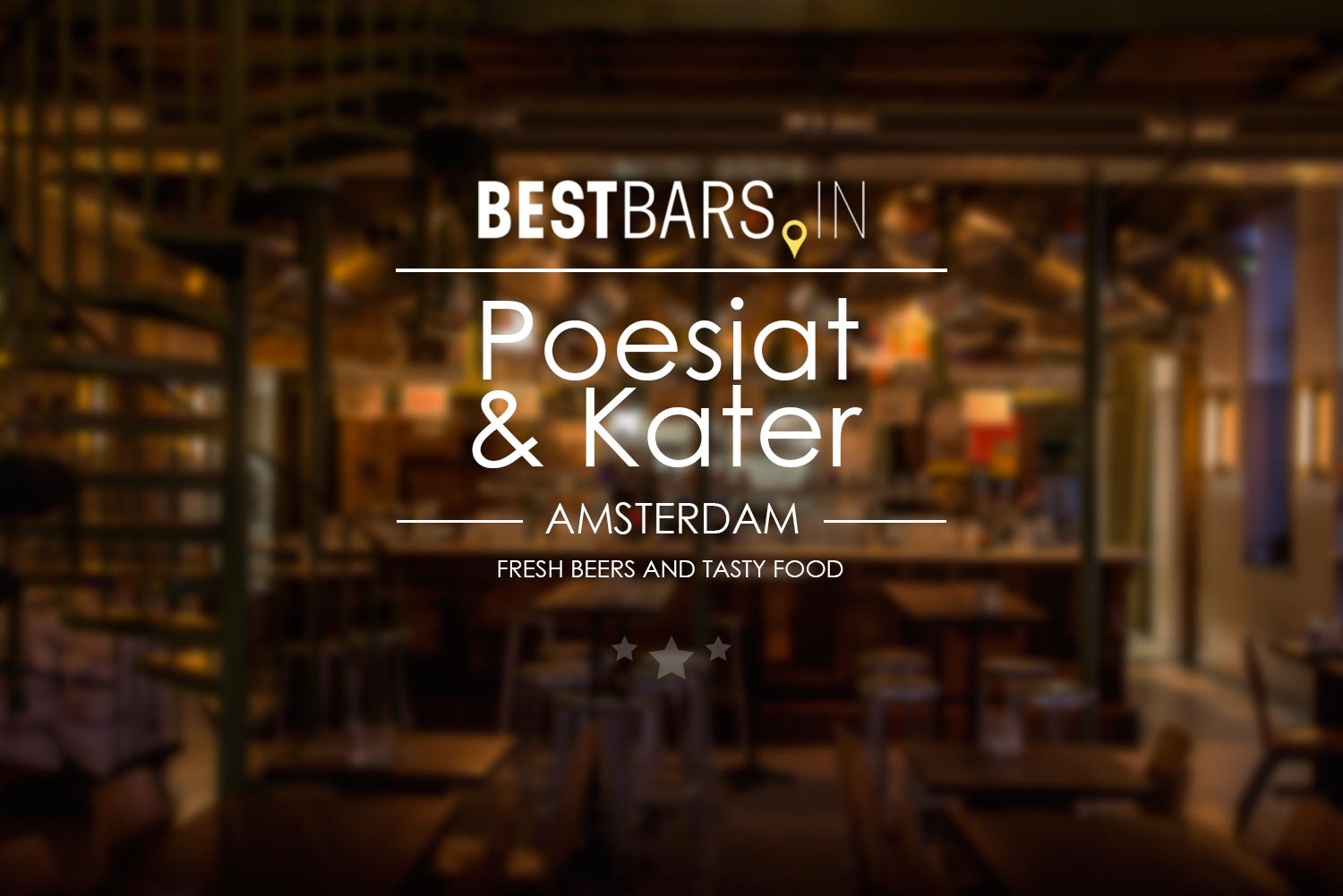 Poesiat & Kater brewery and restaurant in Amsterdam