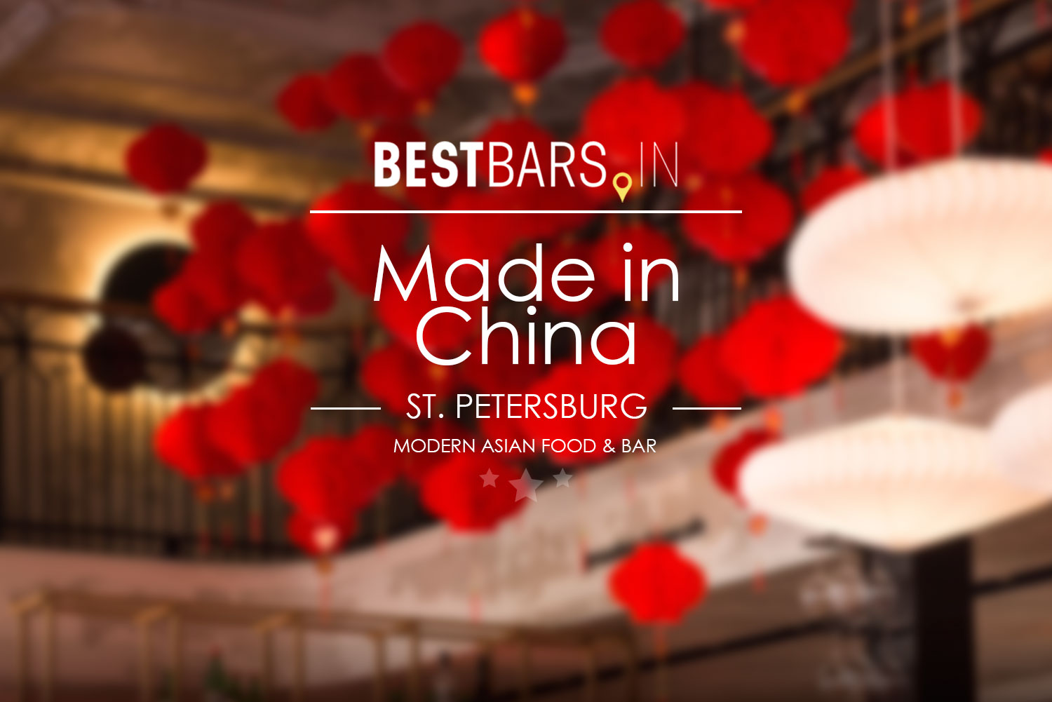 Made in China bar and restaurant in St. Petersburg