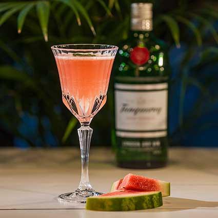 Watermelon Basil Smash cocktail