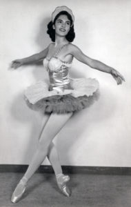 Shelah, as a young woman, performing ballet.