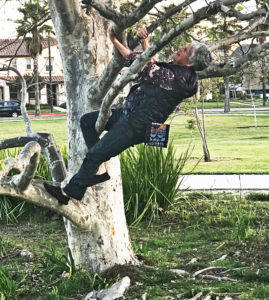 Joyce moves climbing a tree