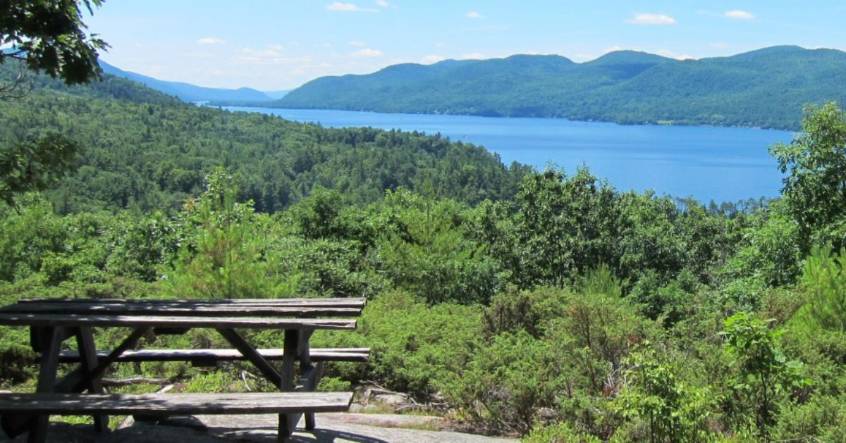picnic table on scenic overlook