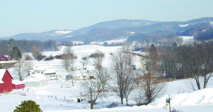 winter landscape photo for farmland