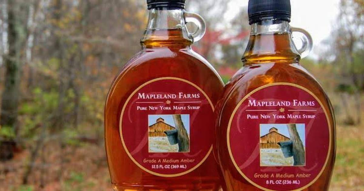 two syrup bottles