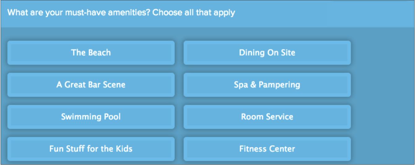screenshot of form question: