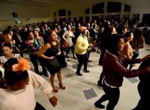 Dancing steps in support of Higher Edge college program fundraiser
