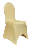 Champagne Spandex Chair Cover