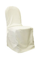 Ivory Poly Chair Cover