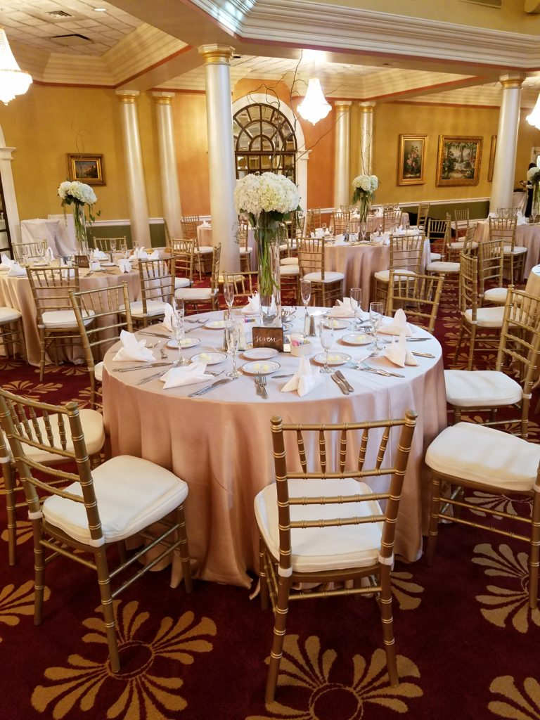 Blush Satin Tablecloths