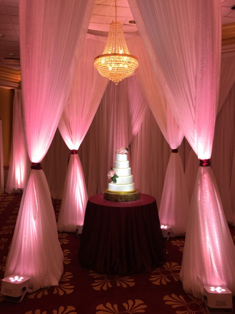 Burgundy Satin Cake Tablecloth