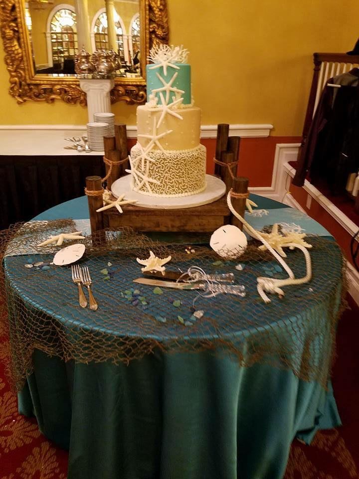 Turquoise Majestic Cake Tablecloth