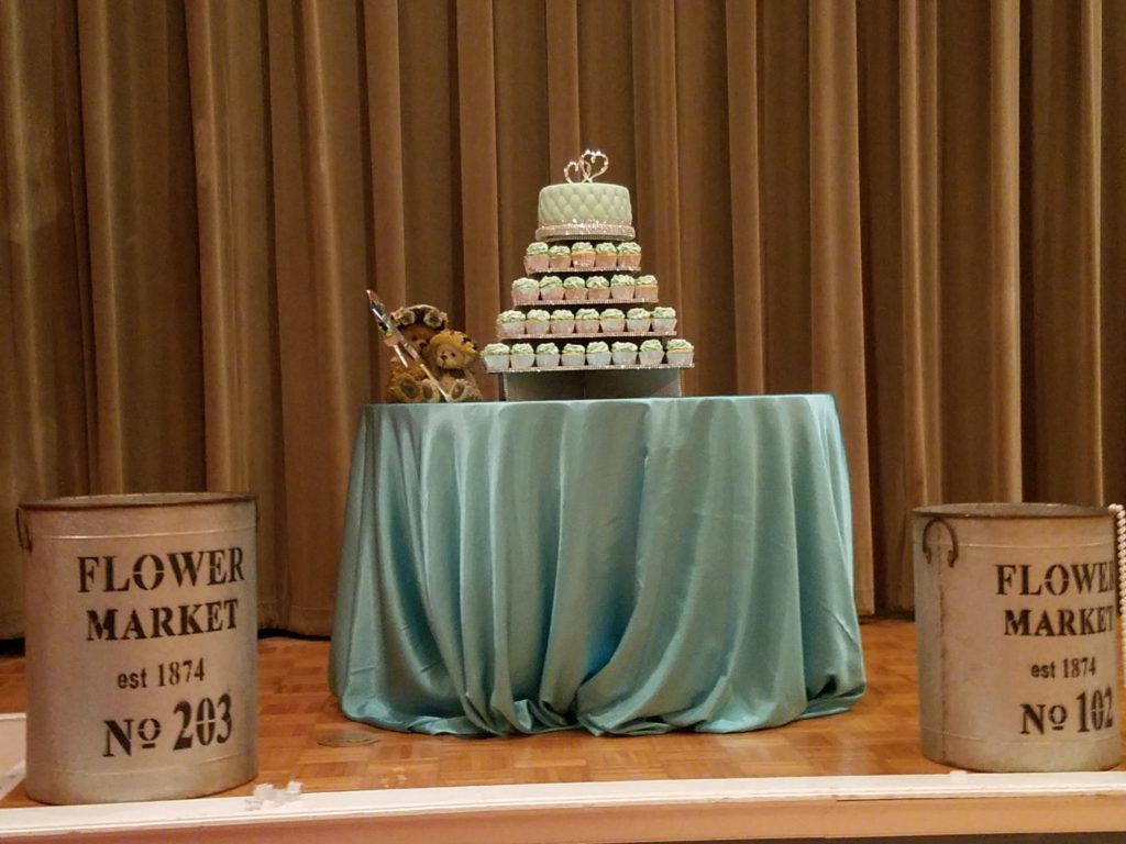 Turquoise Cake Tablecloth