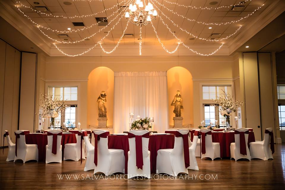 Red Sashes w/ Red Tablecloths