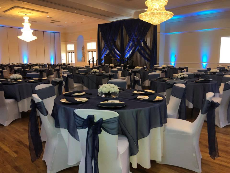 Black Organza Overlays and Sashes
