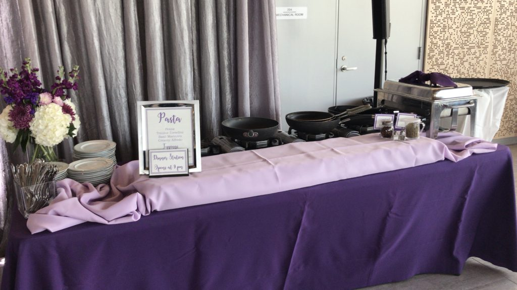 Purple and Lilac Poly Tablecloths