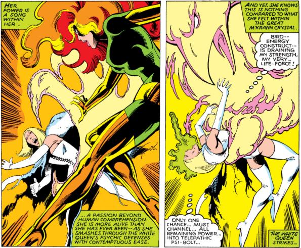 Jean Grey e Emma Frost em X-Men