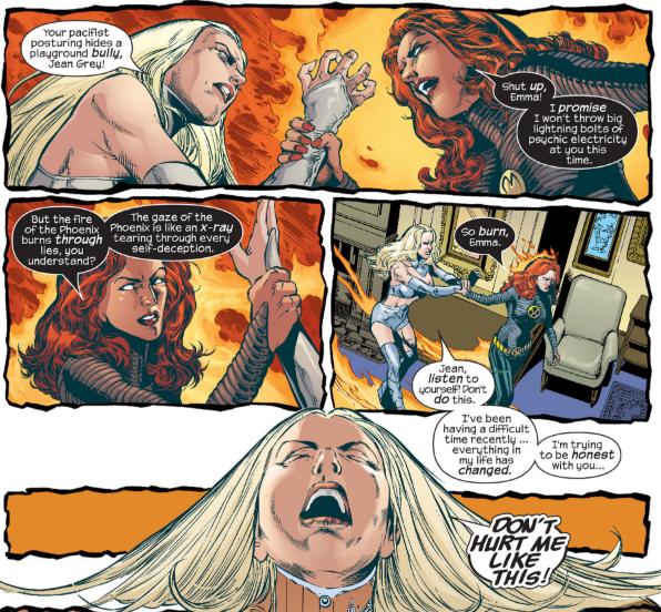 Jean Grey e Emma Frost em New X-Men