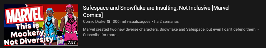 Snowflake Safespace | New Warriors | Novos Guerreiros