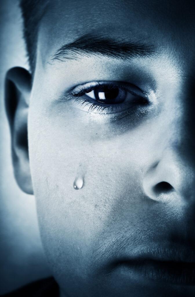 Boy with tear