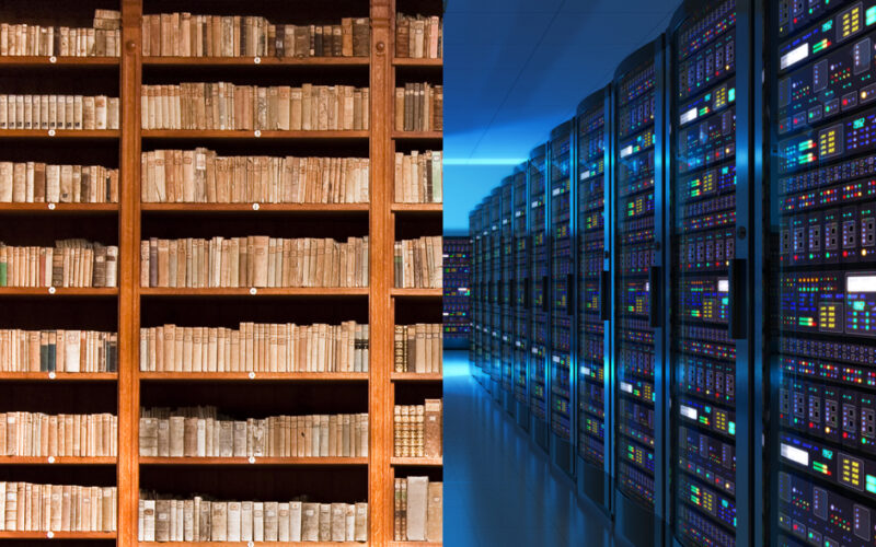 Old Books vs Server