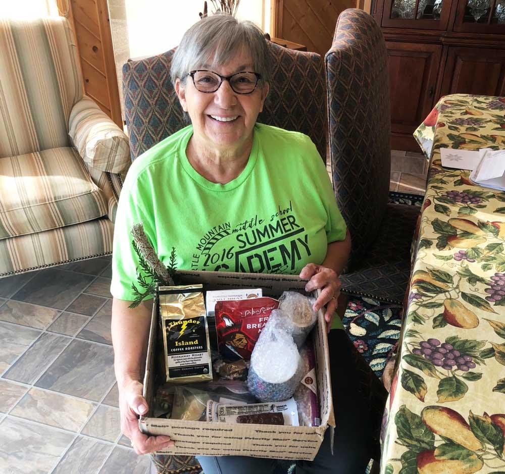 Elder with We Love You! Elder Care Package