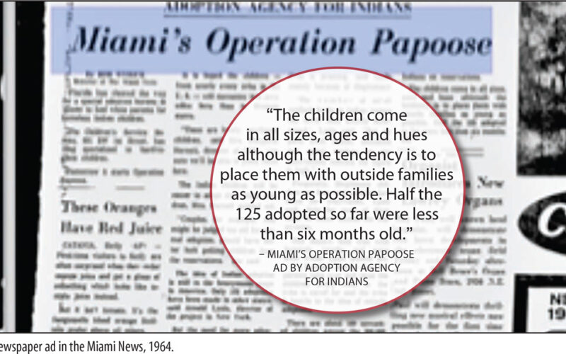 Newspaper about adoption