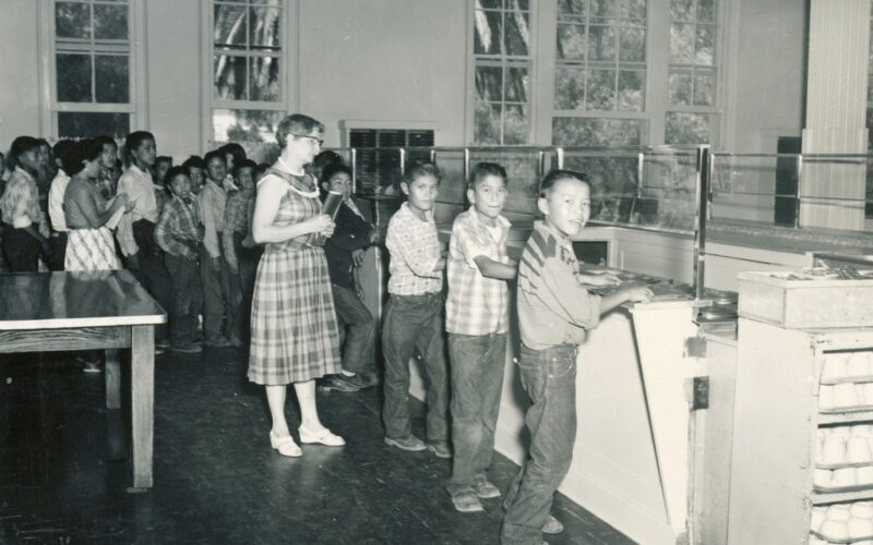 Sherman Institute Lunch Line