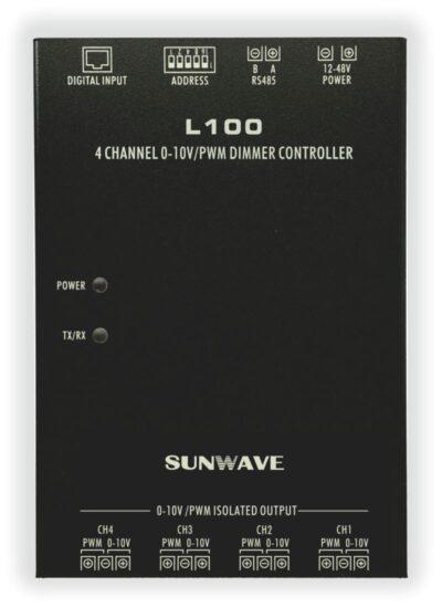 L100 4Ch 0-10V/PWM LED節能照明調光控制器