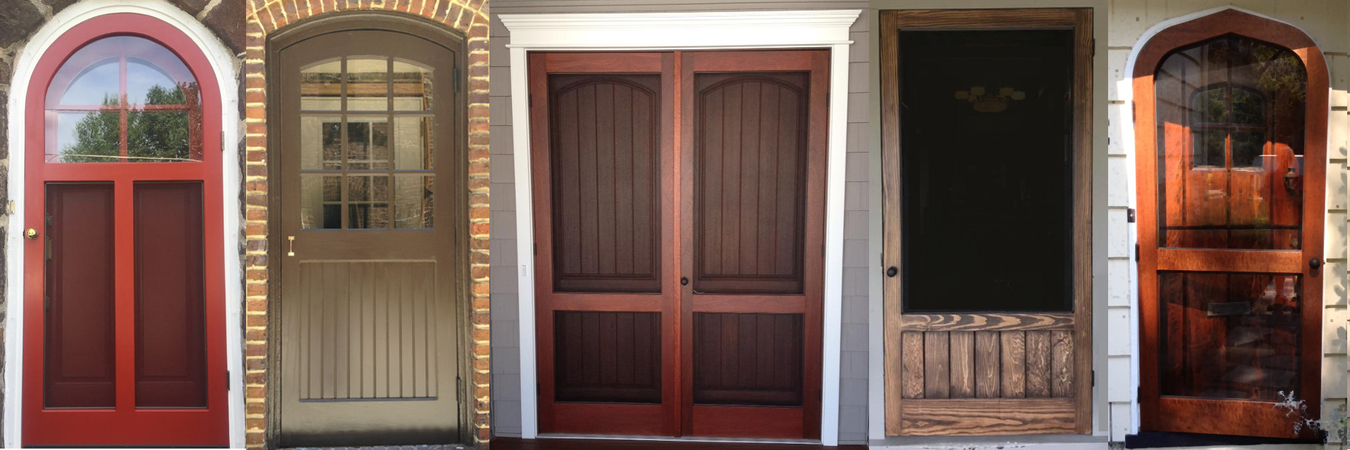 wood storm doors from Victoriana East