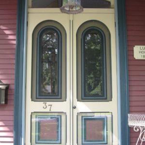 Arched Double Wood Storm Doors From Victoriana East