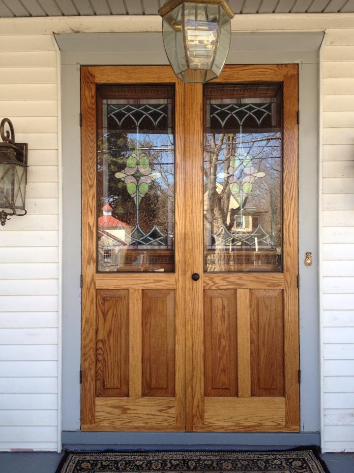 solid oak double doors