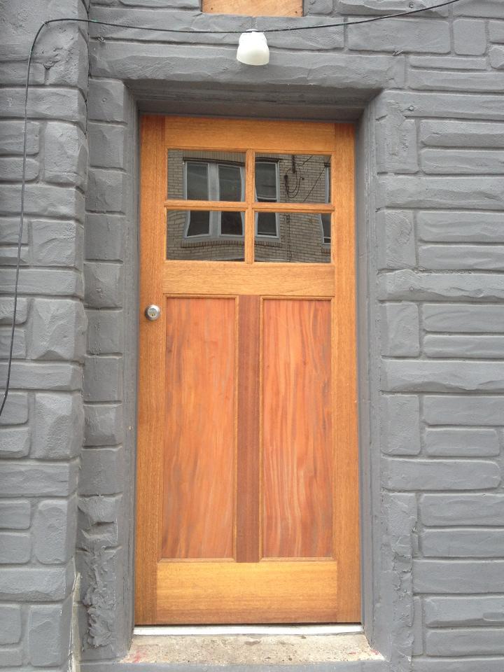 two-panel door
